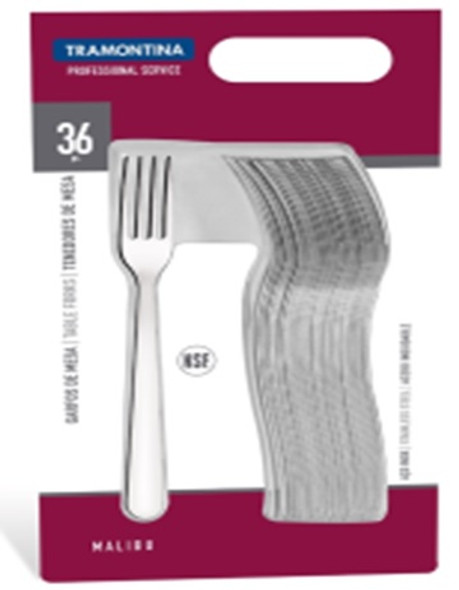 Malibu 36pc. Stainless Steel Table Fork Set