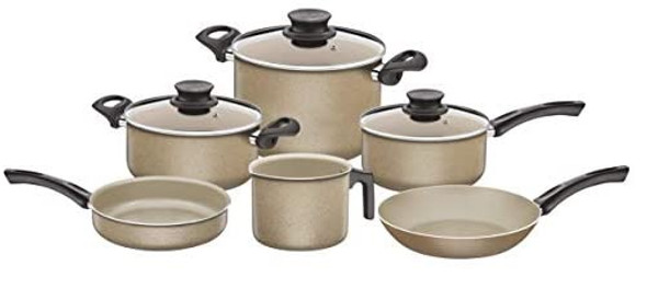 Paris 9pc. Cookware Set White