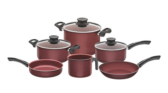 Paris 9pc. Cookware Set Red