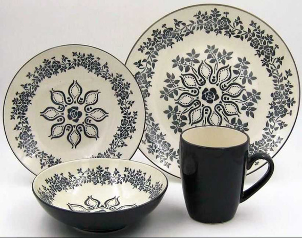 16pc Dinner Set Stoneware – Hanna Grey