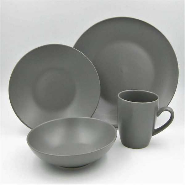 16pc Dinner Set Stoneware – Mono Slate