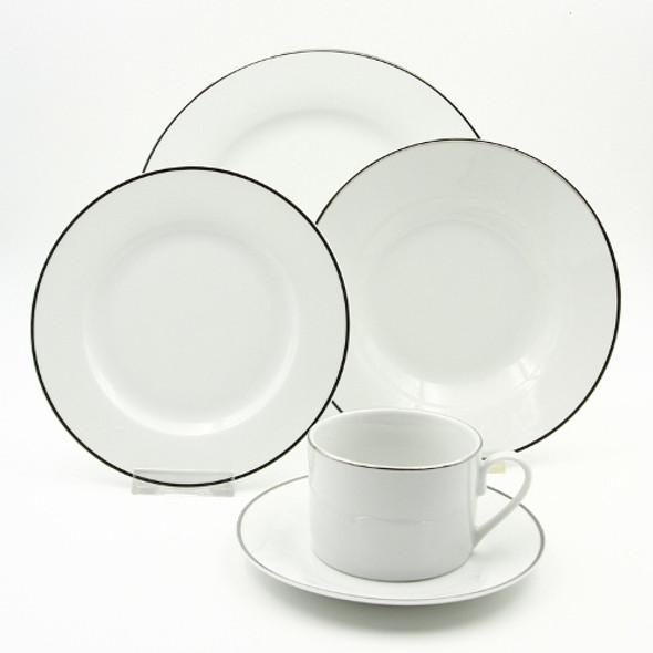20pc Dinner Set Porcelain – Gleam Platinum