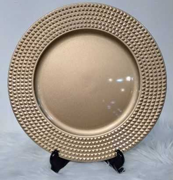 Elegant Design Charger Plate Gold 33x33x2cm
