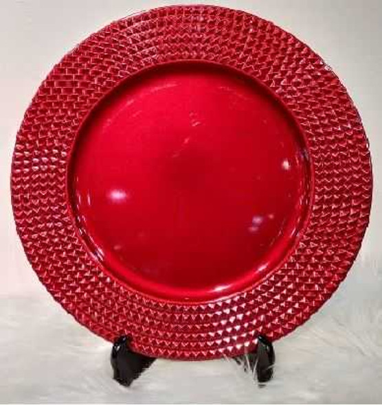 Elegant Design Charger Plate Red 33x33x2cm