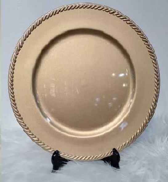 Classic Design Charger Plate Gold 33x33x2cm