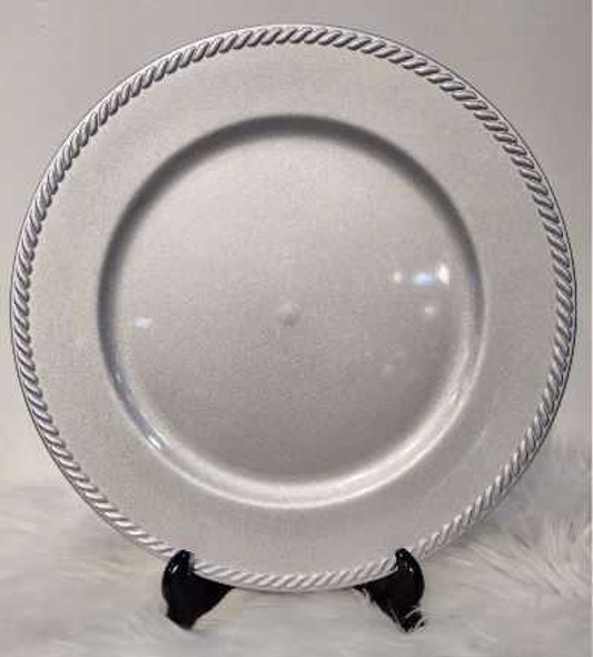 Classic Design Charger Plate Silver 33x33x2cm
