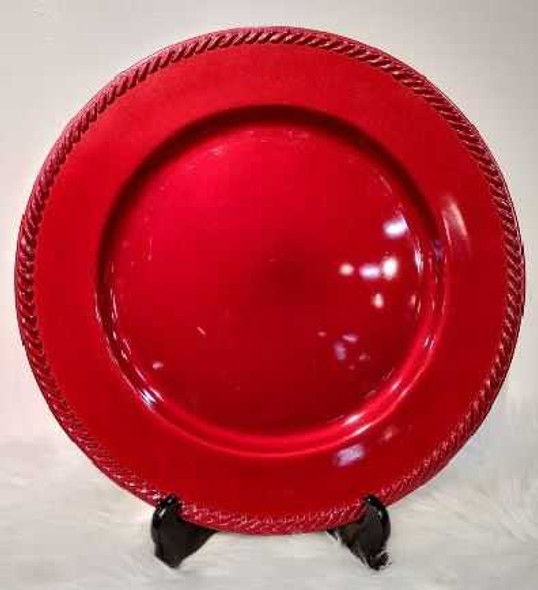Classic Design Charger Plate Red 33x33x2cm