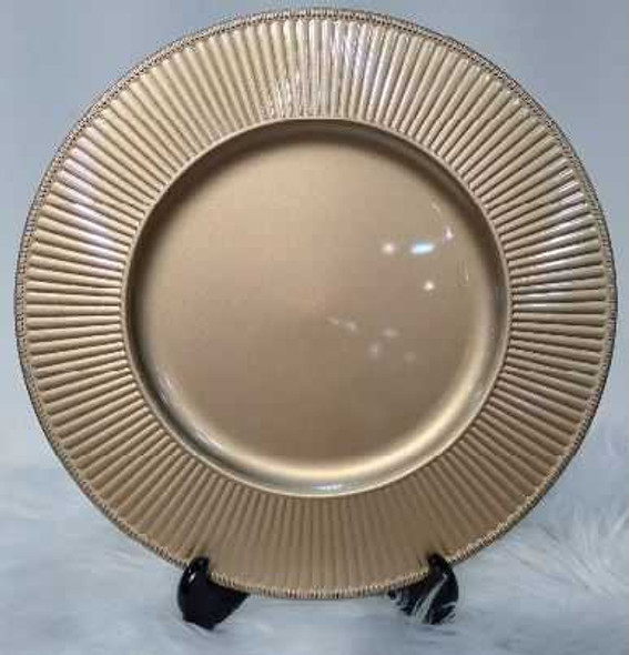 Small Wave Design Charger Plate Gold 33x33x2cm