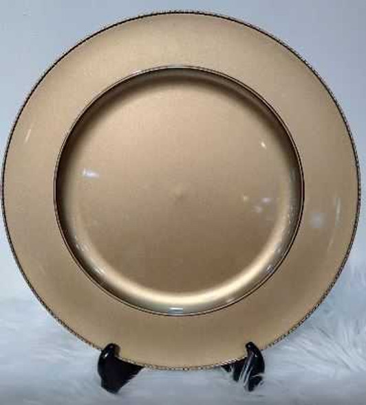 Stylish Charger Plate Gold 33X33X2cm