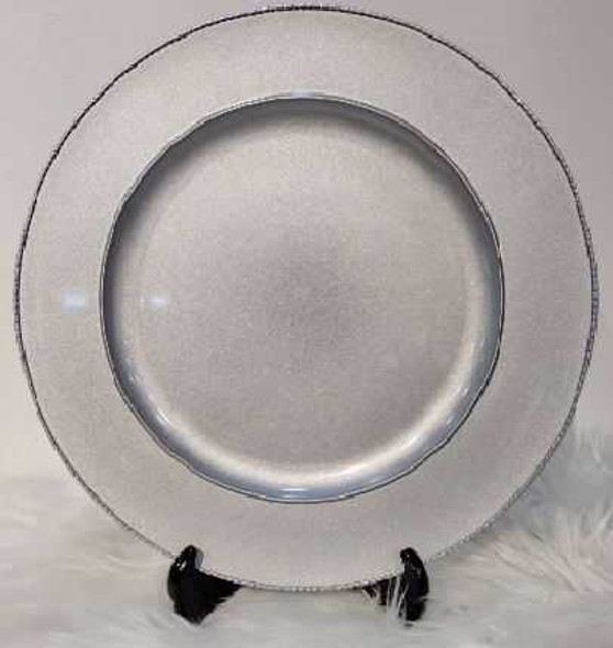 Stylish Charger Plate Silver 33X33X2cm