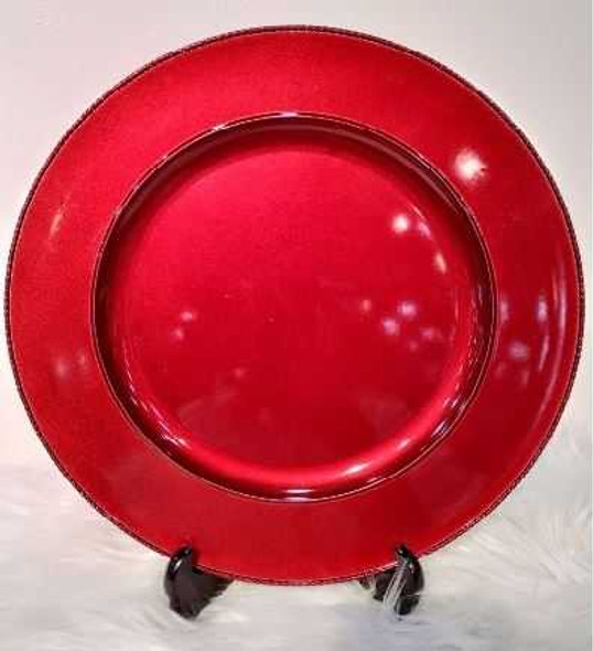 Stylish Charger Plate Red 33X33X2cm