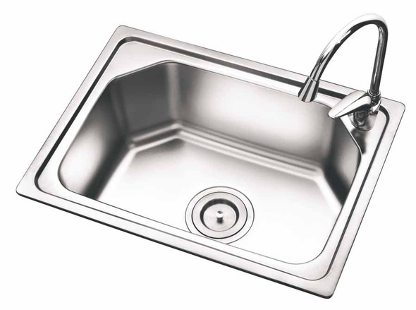 KITCHEN SINK STAINLESS STEEL SINGLE BOWL S2418