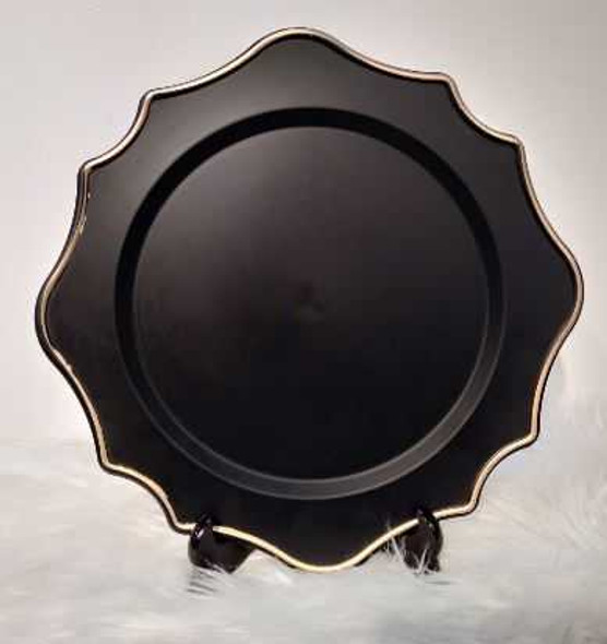 Middleton Black with Gold Charger Plate 33X33X2cm