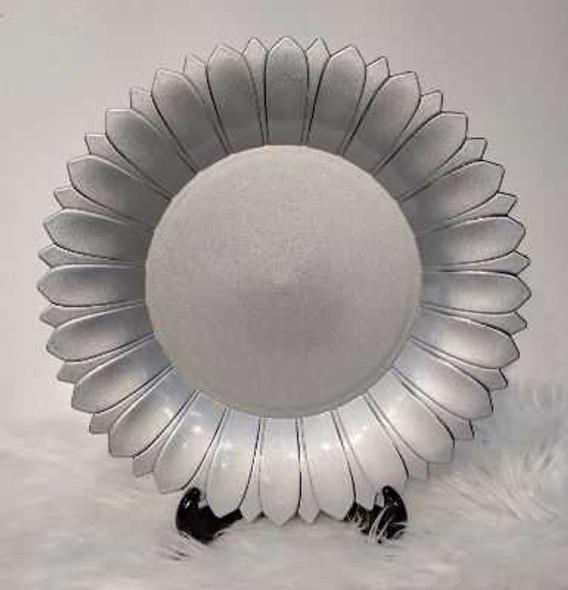 Flower Petal Design Charger Plate Silver 33X33X3cm