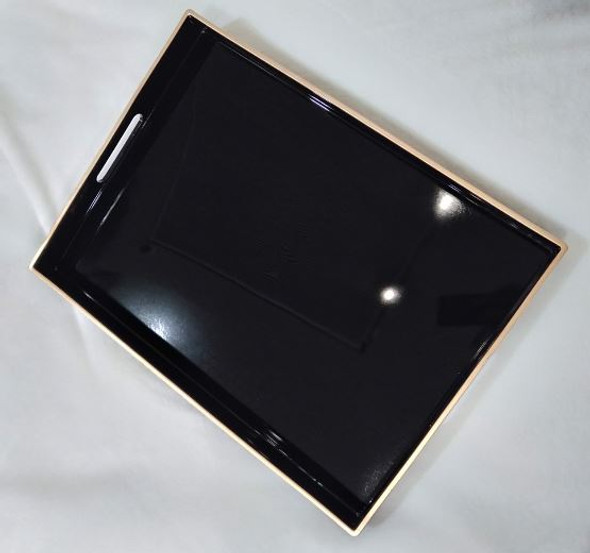 A2129  Black Serving Tray 48X35X4cm