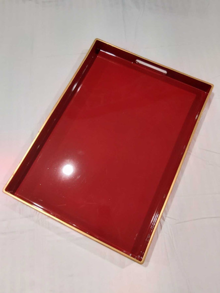 A1113 Red Serving Tray 48X35X4cm