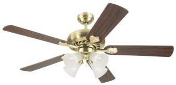 "5SW52SB4 CEILING FAN SWIRL 5BLADE 52"" SATIN BRASS"