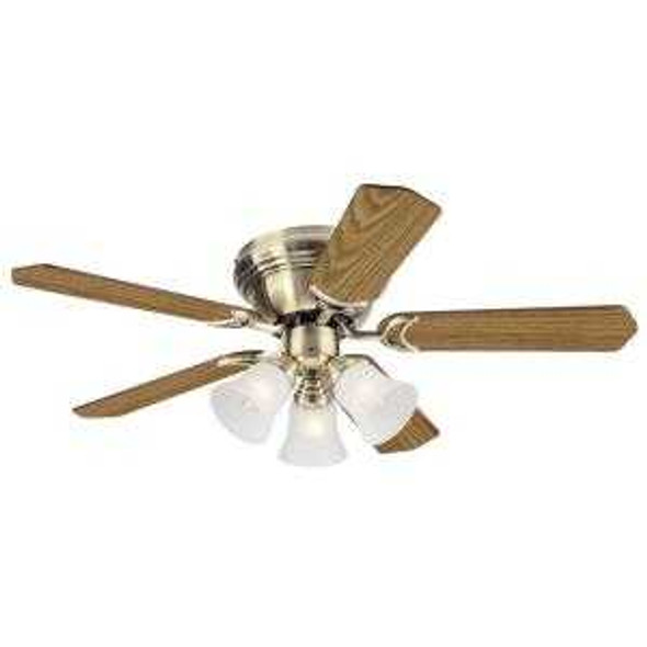 "5NH42ABF CEILING FAN CONTEMPRA TRIO 5BLADE 42"" ANTIQUE BRASS"