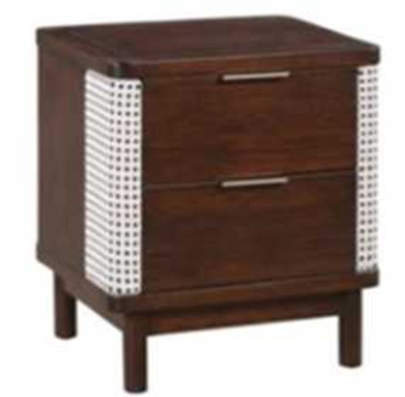 ALEN III 2 DRAWER BEDSIDE TABLE