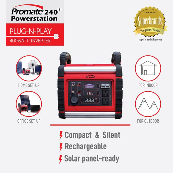 PROMATE PM240 POWER STATION 240 400W