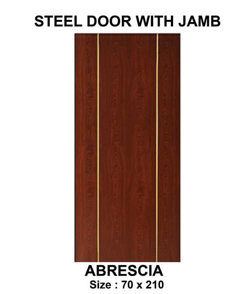 Steel Door & Jamb Set Abrescia 2x4 Jamb