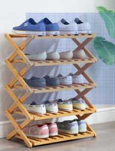 XAN 5 TIER BAMBOO SHOE RACK
