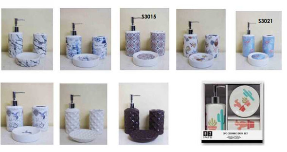 3PCS CERAMIC BATH SET
