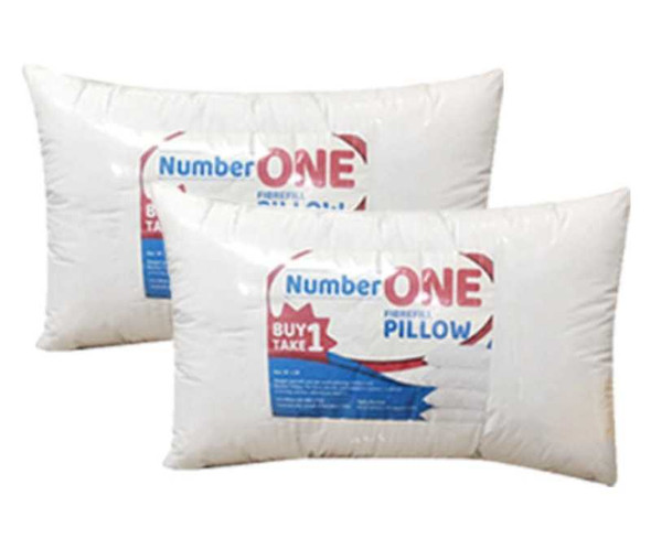 """NUMBER ONE Bed Pillow Pack of two 20"""" x 30"""" White"""