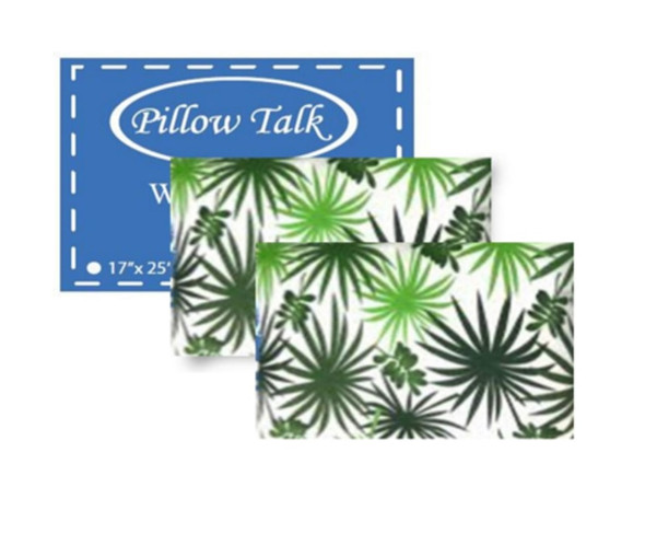 """PILLOW TALK Bed Pillow Pack of Two 18"""" X 28"""" Assorted Printed Design"""