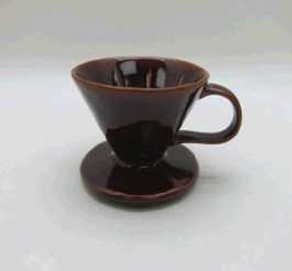 COFFEE LEAK STONEWARE SHINY BROWN REACTIVE GLAZE