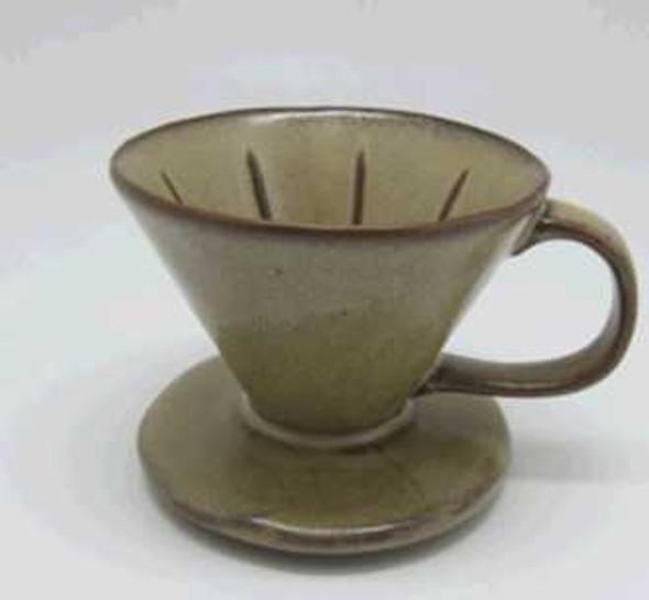 COFFEE LEAK STONEWARE MAT BROWN REACTIVE GLAZE
