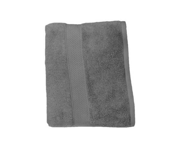 "Lifestyle Organic Cotton 27""x54"" 520gms Cool Grey Bath Towel"