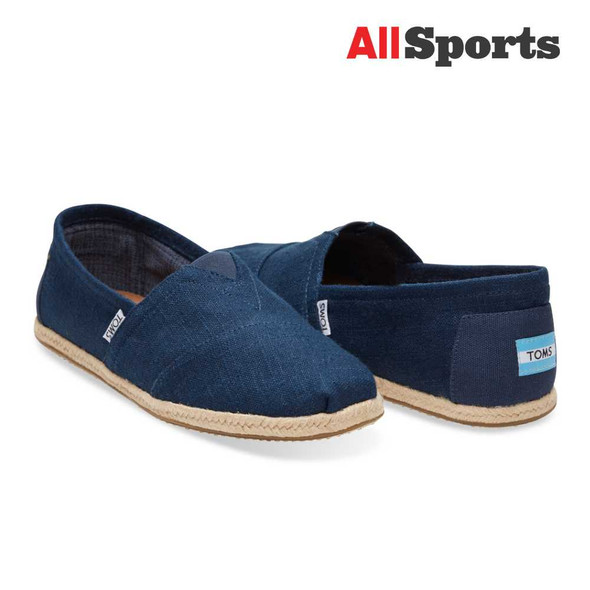AllToys - Toms Classic Navy Rope Linen Sole