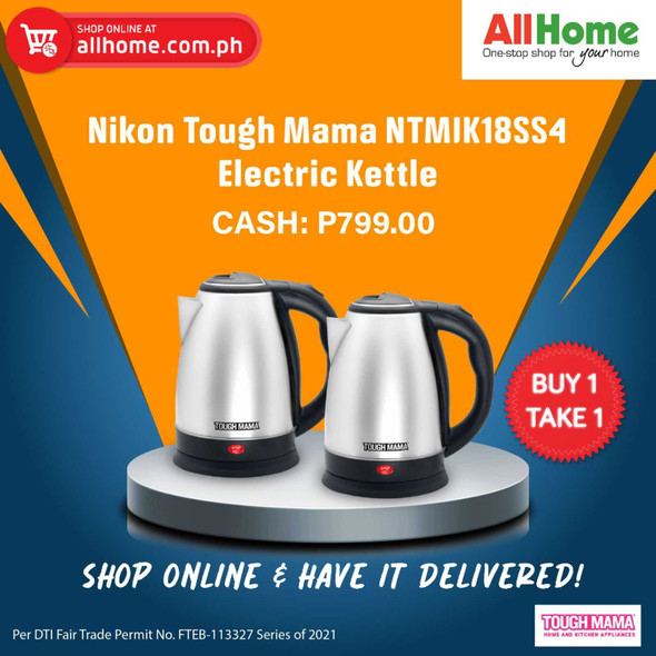 BUY 1 TAKE 1 Nikon Tough Mama NTMJK18SS4 Electric Kettle