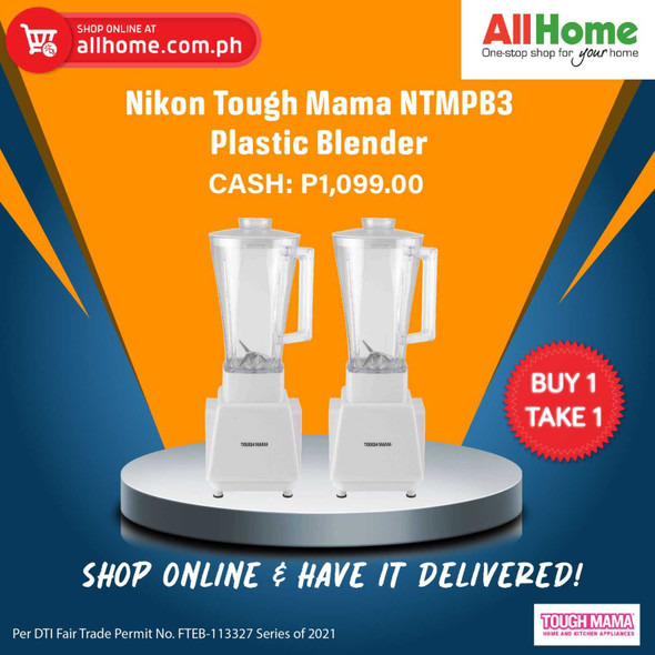 BUY 1 TAKE 1 Nikon Tough Mama NTMPB3 Plastic Blender