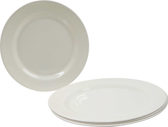 Bestware Round Plate Cream 10in Set Of 4