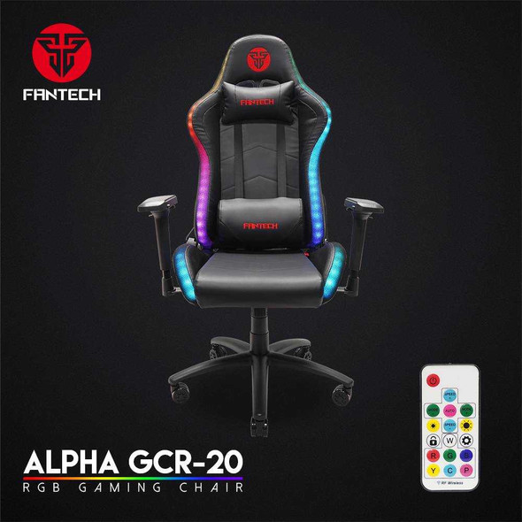 FANTECH RGB GCR20 GAMING CHAIR BLACK