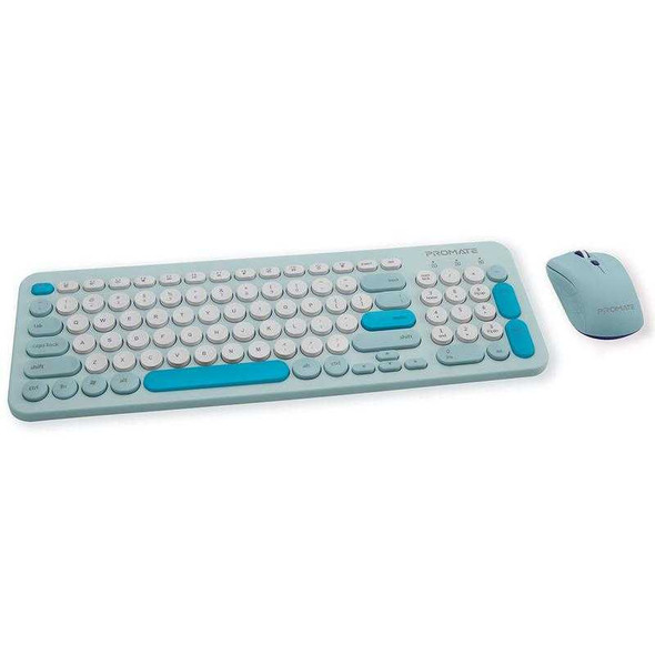PROMATE Pastel Keyboard and Mouse Combo Blue LED Backlight