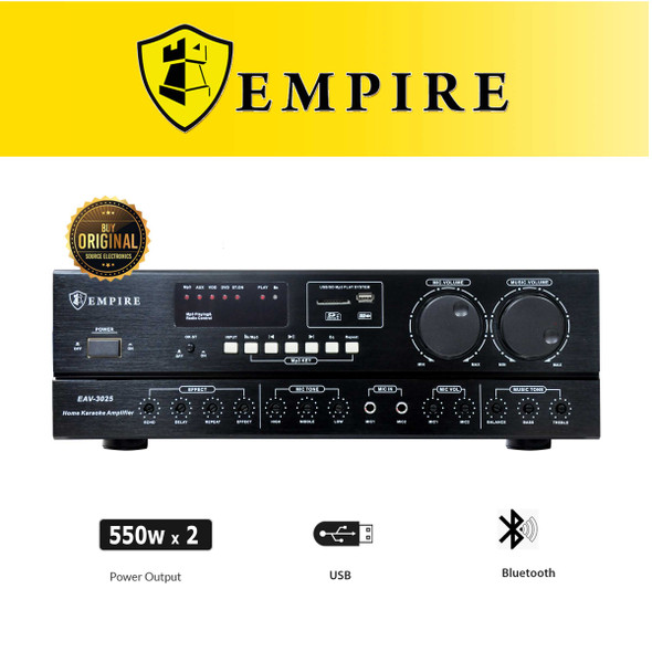 Empire EAV-3025 Professional Karaoke Amplifier
