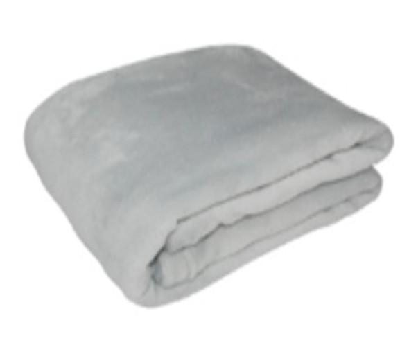 1.2mx1.5m Light Gray Coral Fleece Blanket