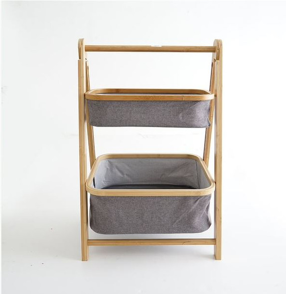 2 Layer Multipurpose Bamboo Side Storage Stand