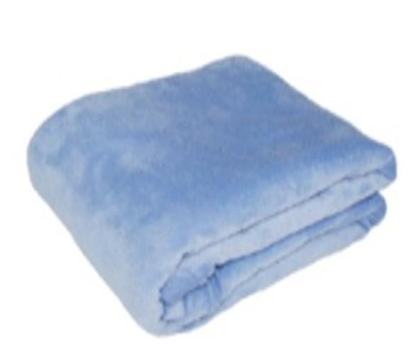Blanket Coral Fleece 1.2m x 1.5m Periwinkle