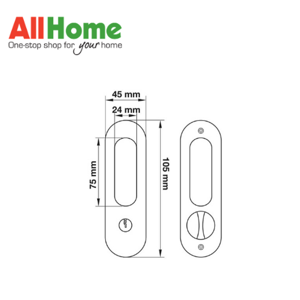 Hafele 499.10.250 Entrance Sliding Doorlock AB