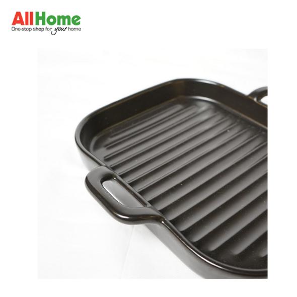 Square Ceramic Bake Dish Plate Double Handle