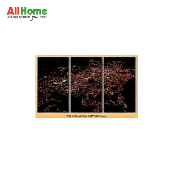 Wall Art Canvass Triptych 16X32 R-K015 TRIPTYCH AERIAL CITY VIEW
