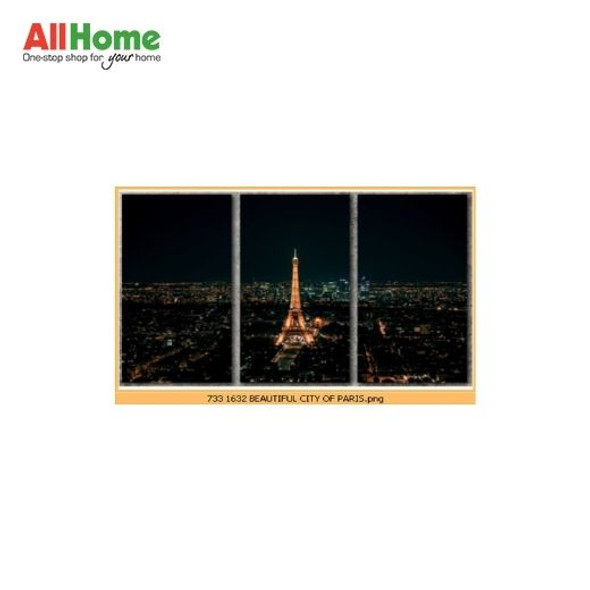 Wall Art Canvass Triptych 16X32 R-K012 TRIPTYCH BEAUTIFUL CITY OF PARIS