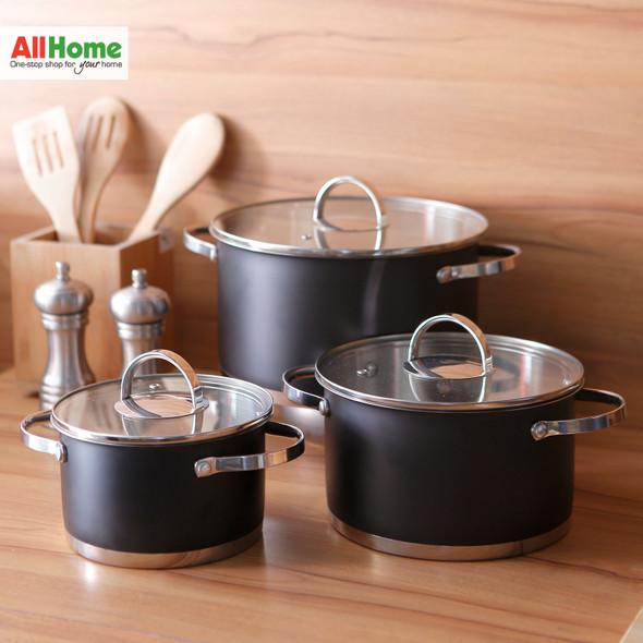 Gray Cookware Set (8Pcs)