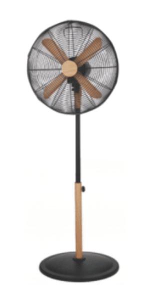 Asahi Wooden Blade Stand Fan XF6077 Black