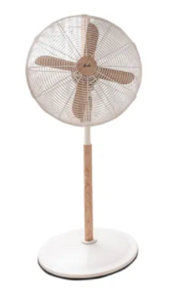 Asahi Wooden Blade Stand Fan XF6077  White