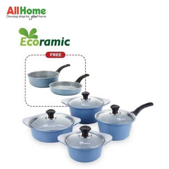 ECORAMIC Pot Set Blue